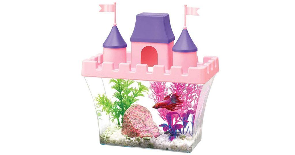 Aqueon Acrylic Half-Gallon Princess Castle Shaped Aquarium image