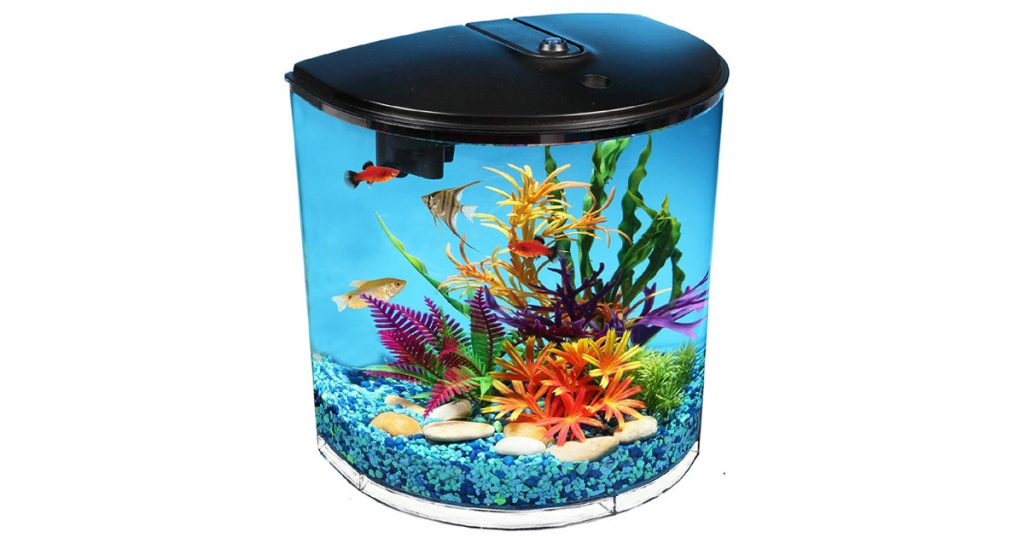 Koller Products 3.5-Gallon Vibrant Colors Fish Tank with Power Filter image