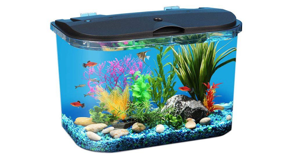 Koller Products 5-Gallon Aquarium Kit with Efficient LED Light image