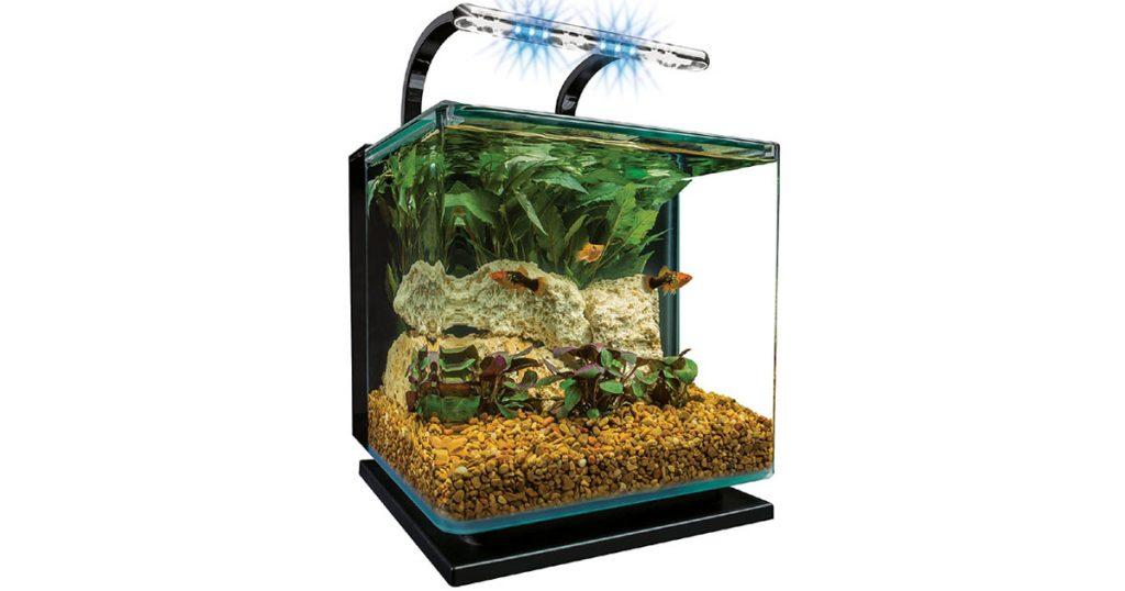 MarineLand Contour Square Shape Glass Aquarium Kit image