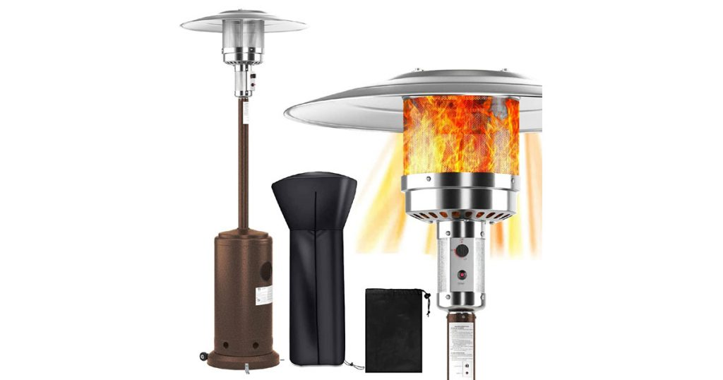WASAKKY 48000 BTU Portable Outdoor Patio Heater Image